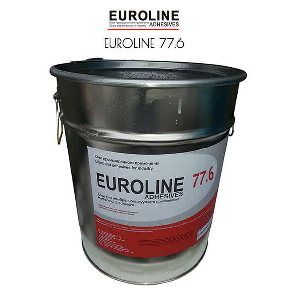 EUROLINE 77.6 Однокомпонентный клей на основе полиуретановой дисперсии для мембранного и вакуумного прессования